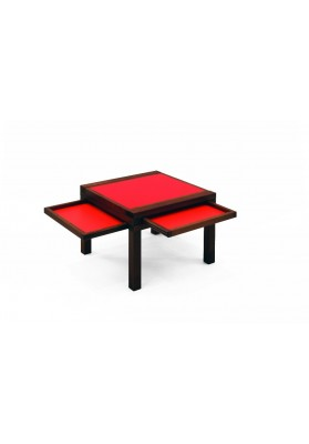 Table par 3 rouge-orange